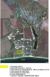 земля на берегу моря возле пресноводного водоема в Украине