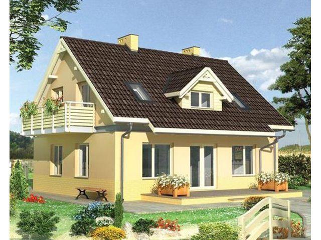Жилой дом из сэндвич-панелей, с мансардой и балконом, проект.